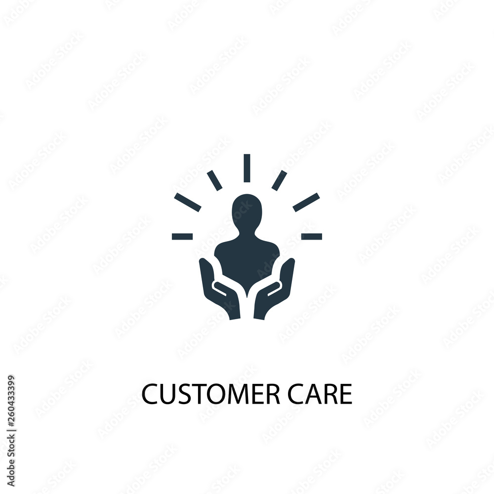 Fototapeta customer care icon. Simple element illustration. customer care concept symbol design. Can be used for web and mobile.