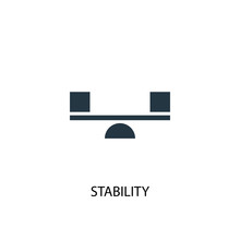 Stability Icon. Simple Element Illustration. Stability Concept Symbol Design. Can Be Used For Web And Mobile.