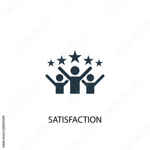 satisfaction icon Fototapete