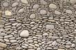 gewaschene steine zu muster verarbeitet