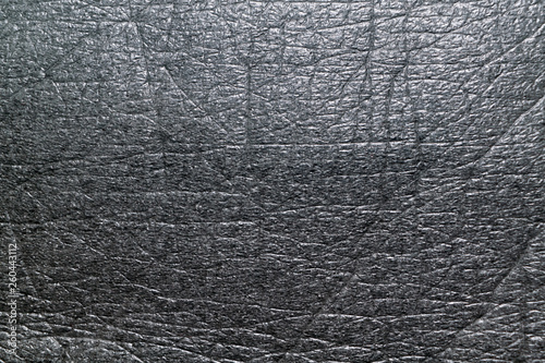 Fotografiet  Surface of the soft porous packaging film or dark gray material