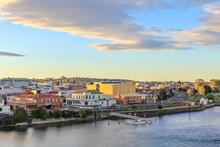 Sunset In Tasmanian Town Devon...