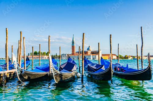 Türaufkleber Gondeln Gondolas in Venice Italy