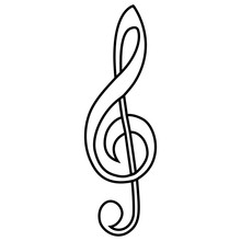 Musical Sign Treble Clef Vector Calligraphy Treble Clef