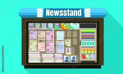 Fotografía Newsstand glass window icon