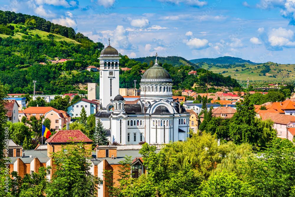 Fototapety, obrazy: The Holy Trinity Orthodox church in Sighisoara, Mures County, Transilvania, Romania