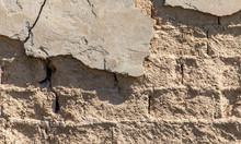 Old Clay Bricks Wall As Backgr...