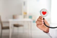 Cardiologist Holding Stethosco...