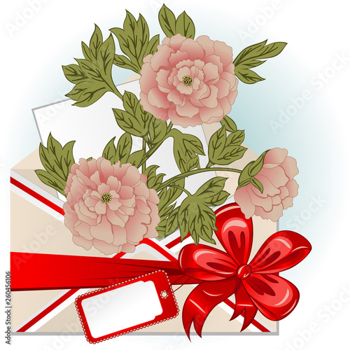 Envelope With Peonies