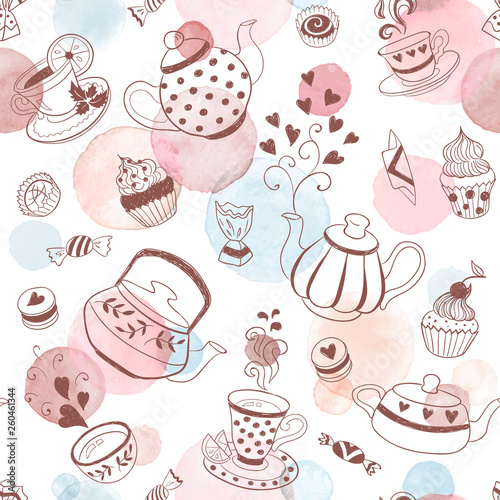 Tapety do aneksu kuchennego  tea-time-background
