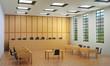 Kleine Halle oder leerer Gerichtssaal