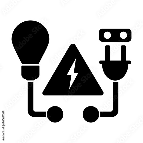 Repair Services Logo Icon Electrical Services Wiring And Connection Of Lighting Installation Of Lighting Black Vector Illustration Buy This Stock Vector And Explore Similar Vectors At Adobe Stock Adobe Stock