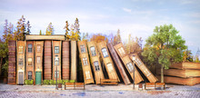 Library Concept. Fantasy Liter...