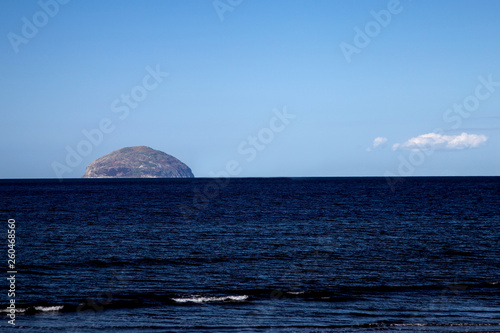 The Ailsa Craig Rock at Ayrshire Scotland Fotobehang
