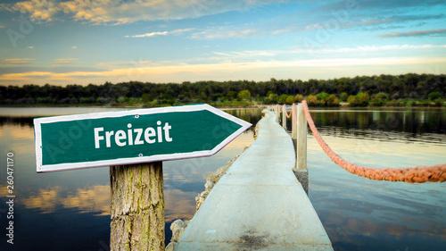 Fotografía  Schild 381 - Freizeit