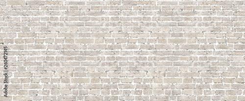 Photo sur Toile Brick wall Beige brick wall seamless pattern.