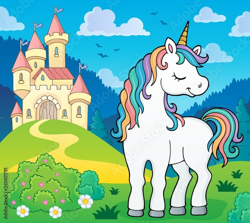 Dreaming unicorn theme image 3