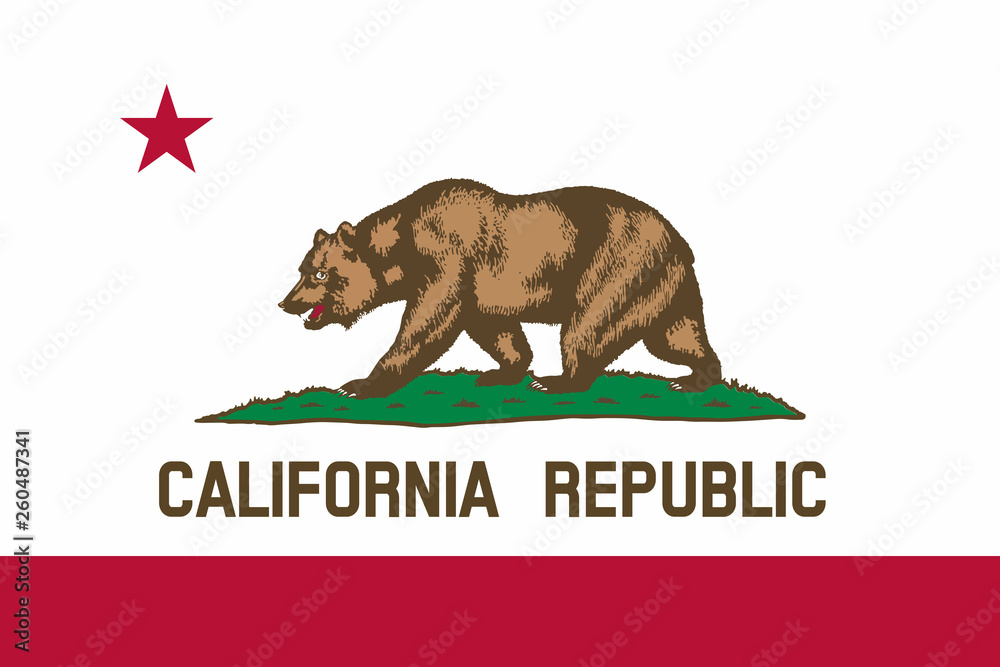 Fototapety, obrazy: Flag of California state of the United States.
