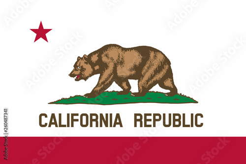 Photo  Flag of California state of the United States.