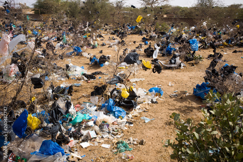Fotomural plastic pollution in Senegal