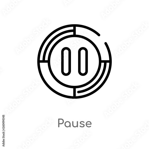 Fotografie, Obraz  outline pause vector icon