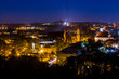 View of Vilnius from the high point at night. Lithuania