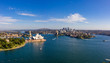 Leinwanddruck Bild Panoramic view of the beautiful harbour in Sydney, Australia