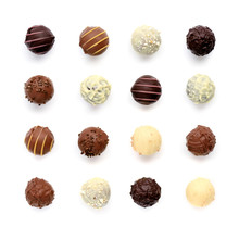 Top View Of Various Chocolate ...
