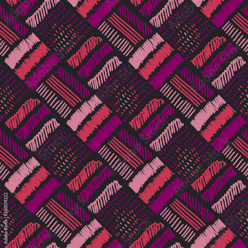 Canvas Print Abstract decorative embroidery seamless pattern