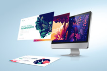 Web Design Template. Vector Il...