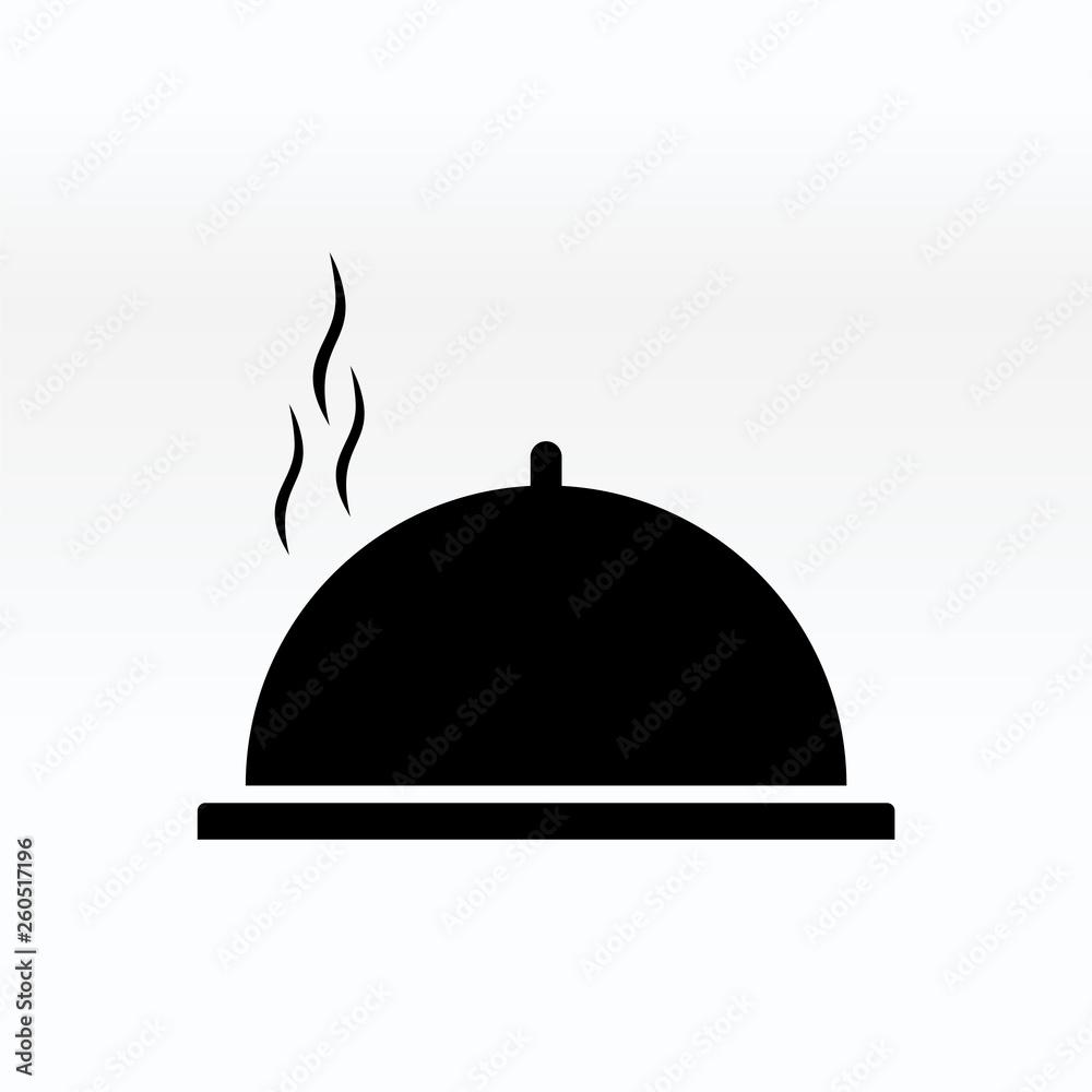 Fototapety, obrazy: Cloche food plate vector illustration. Cloche icon simple