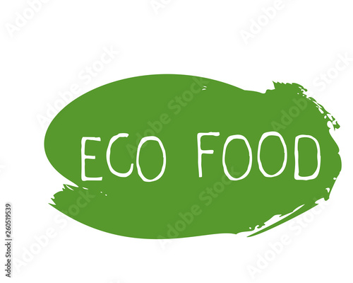 Fototapeta Eco food label and high quality product badges. Bio healthy organic, 100 bio and natural product icon. Emblems for cafe, packaging etc. Vector obraz