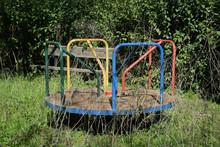 Rusty Playground Merry-go-round