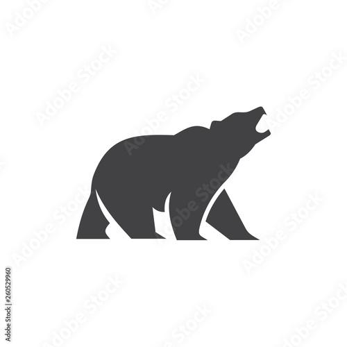 bear logo design vector Fotomurales