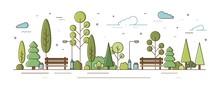 City Park Or Municipal Garden ...