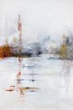 abstrakcyjne malarstwo akrylowe na płótnie - 260540380