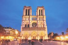 Notre-Dame De Paris Front View...