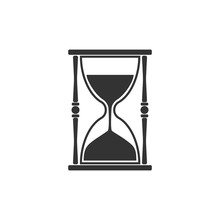 Hourglass, Sand, Time Icon. Ve...