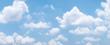 Leinwandbild Motiv blue sky background with white clouds during day . panorama .
