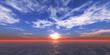 fly sunset ocean