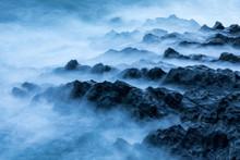Waves Crashing On The Rocky Sh...
