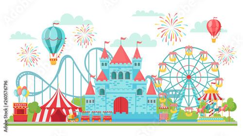 Canvas Print Amusement park