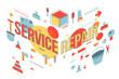 Service repair word concept banner design