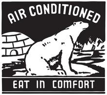 Air Conditioned 3 - Retro Ad Art Banner