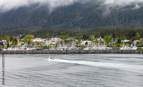 Fotografie, Obraz  Fishing boat coming into Sitka, Alaska after a long day of fishing in the ocean