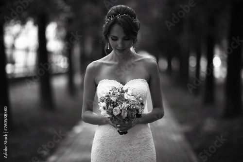 Poster Hoogte schaal Wedding black and white photo poster