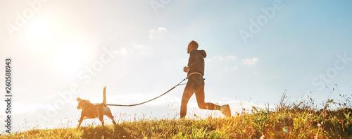 Fototapeta Canicross exercises