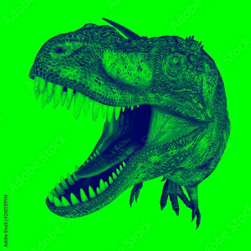 Fotografie, Tablou  t-rex in duotone