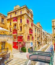 The Tiny Bridge To Victoria Gate, Valletta, Malta