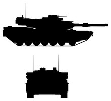 Modern Tank Silhouette: Front ...